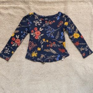 Kids 5t old navy floral long sleeve